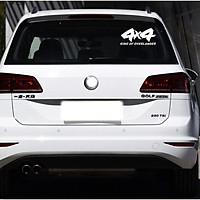 4x4 - Sticker transfer hình dán trang trí Xe hơi Ô tô size 14.5x8cm