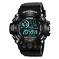 Đồng hồ điện tử nam KASAWI KS 1819 đèn led ban đêm Đồng hồ thời trang Mặt số lớn Đa chức năng Thể thao ngoài trời Đồng hồ điện tử kỹ thuật số