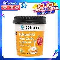 Bánh Gạo Tokpokki Hàn Quốc Ăn Liền Vị Phô Mai O'Food Ly 105g