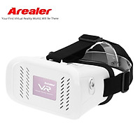 Arealer VR Virtual Reality Glasses Headset 3D Glasses DIY 3D Movie Game Glasses w/ Magnetic Switch  Head-Mounted