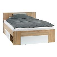 Khung giường JYSK Favrbo gỗ công nghiệp màu sồi/trắng 180x200cm