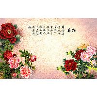 Tranh treo tường Hoa Mẫu Đơn 066