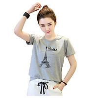 Áo thun nữ paris mây xám d636 thương hiệu T&d