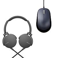 Combo Tai Nghe Sony ExtraBass MDR-XB550AP & Chuột BlueLED ELECOM M-Y8UBBK - Hàng chính hãng