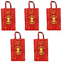 BỘ 5 túi vải đựng đồ cao cấp kích thước 40x30x12cm tiện dụng , thân thiện môi trường ,dễ dàng sử dụng, gấp gọn khi không dùng