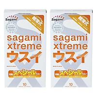 Bộ 2 Hộp Bao Cao Su Siêu Mỏng Cao Cấp Sagami Xtreme Super Thin (10 Bao)