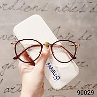 Gọng kính nữ mắt mèo LILYEYEWEAR chất liệu kim loại thiết kế mới lạ màu sắc thời trang 90029