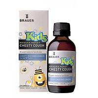 Siro hỗ trợ điều trị ho có đờm Brauer Kids Manuka Honey Chesty Cough 100 ml