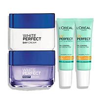 Bộ sản phẩm dưỡng trắng bảo vệ da L'Oreal Paris (WP Day-Night Cream ; 2 UV M&F)