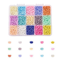 7500pcs/set 15 Colors 3mm Small Round Loose Bead for DIY Jewelry Making Earrings Bracelet Necklace
