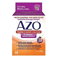 AZO Bladder Control with Go-Less & Weight Management Dietary Supplement |  Safely Helps Reduce Occasional Urgency* | Promotes Healthy Metabolism* | Supports a Good Night's Sleep* | 48 Capsules