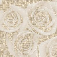 Giấy dán tườnG hàn Quốc họa tiết hoa hồng dạng chữ màu vàng nhạt