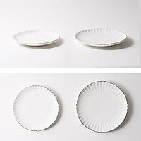 Đĩa tròn gốm sứ - Cotton - Erato - Hàng nhập khẩu