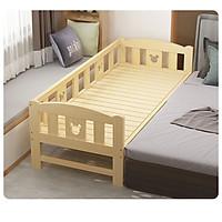 Giường ngủ gỗ _ giường ngủ cho bé 3 mặt tặng đèn ngủ đáng yêu