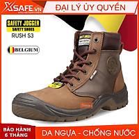 Giày bảo hộ lao động nam Jogger Dakar S3 da ngựa siêu bền, chống đinh, chống trơn trượt Giày công trình, nhà máy, cổ cao