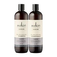 Combo gội xả cân bằng dầu Sukin Oil Balancing Shampoo 500ml & Sukin Oil Balancing Conditioner 500ml