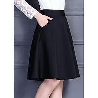 Chân váy xòe 2 túi sành điệu - màu đen