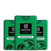 Combo 3 Nước hoa bỏ túi Romano Classic cổ điển lịch lãm 18mlRom