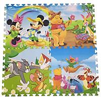 Bộ 4 tấm Thảm xốp lót sàn an toàn Thoại Tân Thành hình thú Disney (60x60cm)