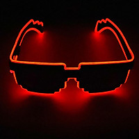 LED Glasses 10 Colors Optional Light Up El Wire Neon Rave Glasses Twinkle Glowing Party Club Holiday Bar Decorative