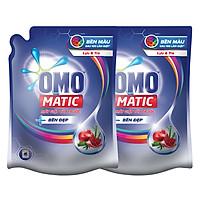 Combo 2 Túi Nước Giặt OMO Matic Bền Đẹp Lựu Và Tre Cho Máy Giặt Cửa Trước (2.3kg/Túi)