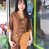Đồ Lam Đi Chùa Mẫu La Hán Phối