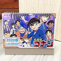 Lịch anime chibi 2020 Conan Thám tử lừng danh để bàn tiện lợi tặng kèm ảnh thiết kế Vcone