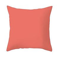 Gối Sofa, Gối vuông Trang Trí Cotton Đơn Sắc - Màu Hồng Cam (45 x 45 cm)