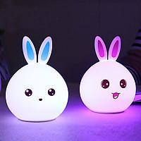 Đèn ngủ hình thỏ cao cấp có điều khiển từ xa ( Màu ngẫu nhiên tai xanh - đỏ )