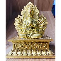 Tượng Phật Thế Âm Bồ Tát Trang Trí  Đế Hình Hoa  ( có nước hoa kèm theo)