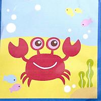 Tranh sơn dầu số hóa tranh tô màu cho bé tự tô có khung - 20x20cm nhiều mẫu SD5