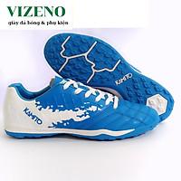 Giày đá bóng, giày đá banh trẻ em sân nhân tạo Kamito QH19 PretiumF19604  màu xanh trắng