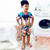 Set đồ bộ quần áo trẻ em in hình 3D King Muse siêu dễ thương - Độ tuổi 1 - 10 - AK004