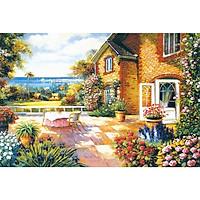 Tranh ghép hình 1000 mảnh gỗ - Sân vườn ngàn hoa