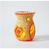 Đèn xông tinh dầu lớn gốm sứ pha lê hoa hướng dương