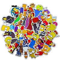 Bộ 50 miếng Sticker hình dán Simpson