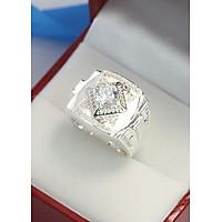 Nhẫn bạc nam bản to đính đá trắng sang trọng NNA0100