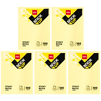 Combo 5 Giấy Note Deli 3x4 EA00453 - Vàng