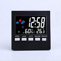 Đồng hồ để bàn  Đồng hồ đo nhiệt độ, độ ẩm để bàn đẹp