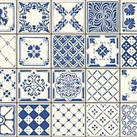 Set 48 Ô 15x15 Decal Gạch Bông 60x180cm - B11