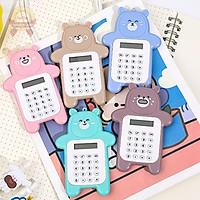 Máy tính hình gấu kế toán 8 số cầm tay mini bỏ túi dành cho học sinh cấp 1 giá rẻ – Quà tặng cho bé