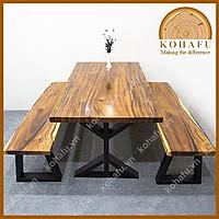 Mặt bàn dài gỗ me tây nguyên tấm cắt vuông vức dài 143 x rộng 79 x dày 4.5 (cm)- KL20226