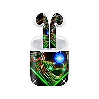 Miếng dán skin chống bẩn cho tai nghe AirPods in hình siêu anh hùng - SAH0083 (bản không dây 1 và 2)