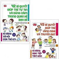 Combo Sách Kỹ Năng Cho Trẻ: Kĩ Năng Xã Hội Của Trẻ Em - 42 Bí Quyết Giúp Trẻ Tự Tin Và Dũng Cảm Trong Quan Hệ Bạn Bè + Kĩ Năng Giao Tiếp Tâm Hồn - 49 Bí Quyết Giúp Trẻ Lắng Nghe Và Truyền Đạt (Bộ 2 cuốn/Kinh Nghiệm Từ Nước Nhật) + Tặng kèm bookmark Happy Life