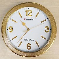 Đồng hồ Enduring Tròn Viền vàng Kim tuyến, Mặt số in Nổi 3D