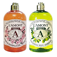 Combo Sữa Tắm L'amont En Provence Cherry Blossom Shower Gel Hương Hoa Anh Đào + Olive & Honey Shower Gel (500ml / Chai)