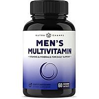 Men's Daily Multivitamin Supplement - Vegan Capsules with Biotin, Vitamins A B C D E K, Calcium, Zinc, Lutein, Magnesium, Folic Acid & More - Non-GMO Multimineral Multivitamin for Men