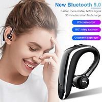 Wireless Earphone Bluetooth 5.0 Headset Long Standby Business Driving Hanging Ear Headset IPX4 Waterproof Sports Headphone