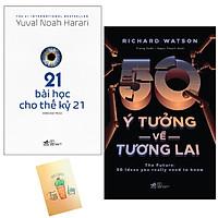 Combo  50 Ý Tưởng Về Tương Lai và 21 Bài Học Cho Thế Kỷ 21( Tặng Kèm Sổ Tay Xương Rồng)