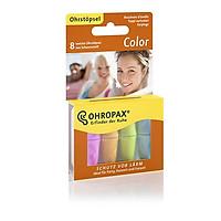 Hộp 8 nút bịt tai OHROPAX COLOR (Siêu mềm mại + 4 màu đa sắc)